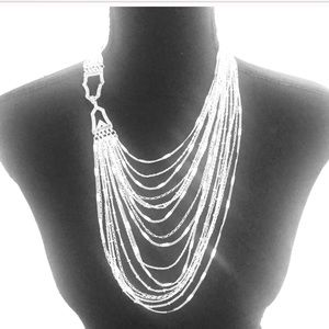 Chloe & Isabel Silver Multi Strand Necklace